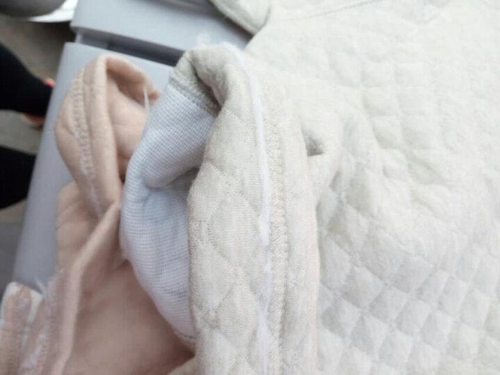 馨颂 婴儿衣服新生儿彩棉保暖上衣裤子内衣套装宝宝衣服 D058D 浅卡其小象 80 晒单图