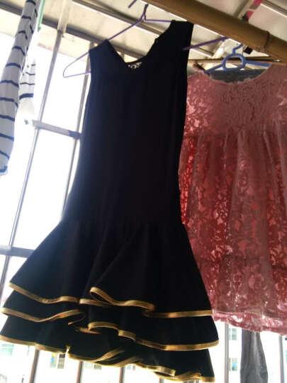 儿童拉丁舞蹈服夏少儿拉丁服装蕾丝拉丁舞服服装比赛拉丁舞裙女童 黑色长袖 120 晒单图