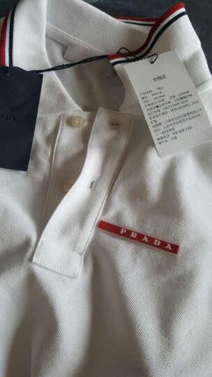 PRADA 普拉达 男士湖蓝色棉质短袖POLO衫 商务休闲上衣 SJJ887 322 F0136 L码 晒单图