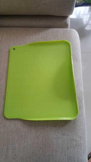 彩色可立硬质耐刮磨托盘菜板果盘砧板多用环保蔬果菜板 草绿色 晒单图