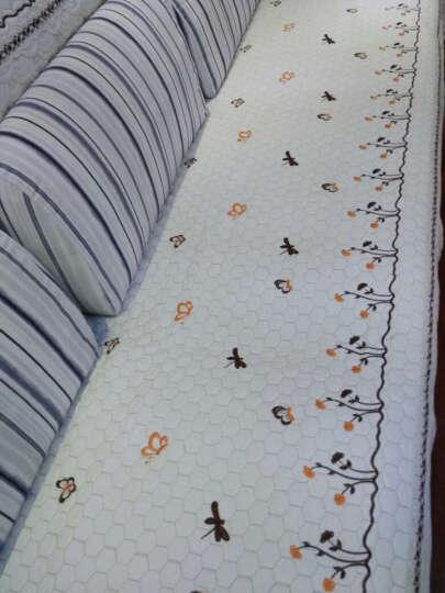 绿幽谷四季通用沙发垫全棉麻沙发套沙发巾防滑坐垫沙发垫子 米色 新欢 单条90*160cm 晒单图