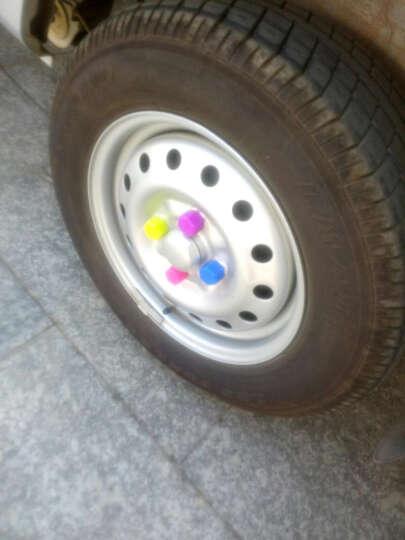洛玛 汽车轮毂螺丝帽装饰保护盖 轮胎防护帽 防水防尘防锈炫彩轮毂盖 轮胎帽 轮毂螺丝盖 五彩色 一套20个 21寸 晒单图