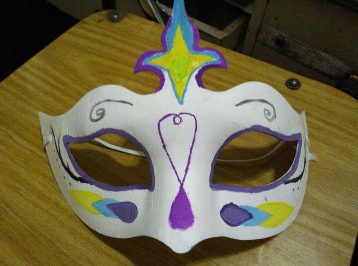 盛泉 环保纸浆 白色面具 手绘DIY涂鸦面具 纸脸谱 白色 空白面具 葫芦 晒单图