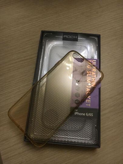 洛克ROCK iPhone6s手机壳透明硅胶保护套 适用于苹果6/6s防摔手机套 4.7英寸-透金(带防尘塞) 晒单图