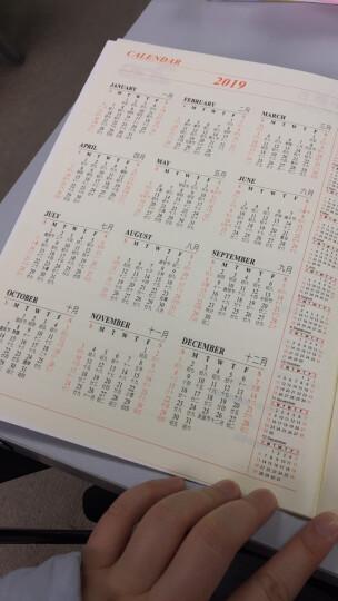2019年月计划日程本工作小秘书 自填式计划日程本 年历笔记本 记事本 记事本定制logo效率手册 花纹 蓝色 晒单图