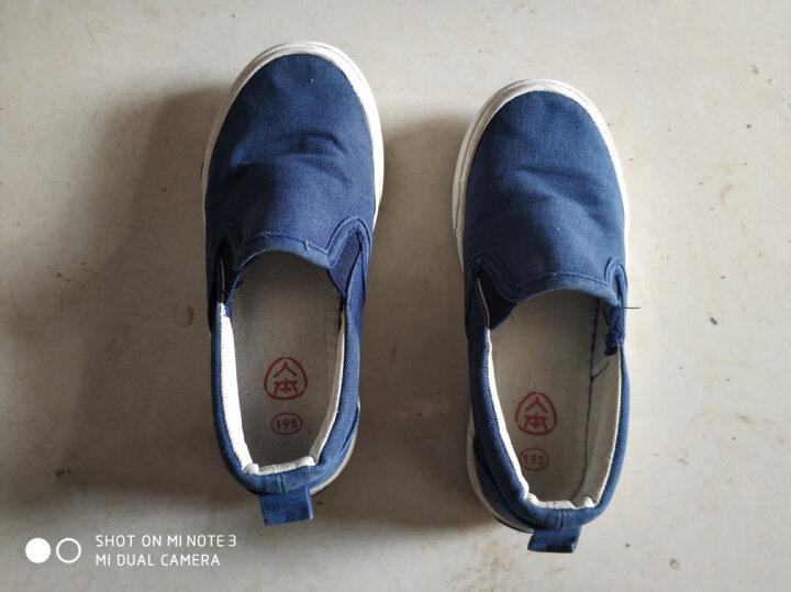 人本帆布鞋儿童布鞋男童鞋子女童小白鞋宝宝一脚蹬懒人鞋新款童鞋 大红色 29 晒单图