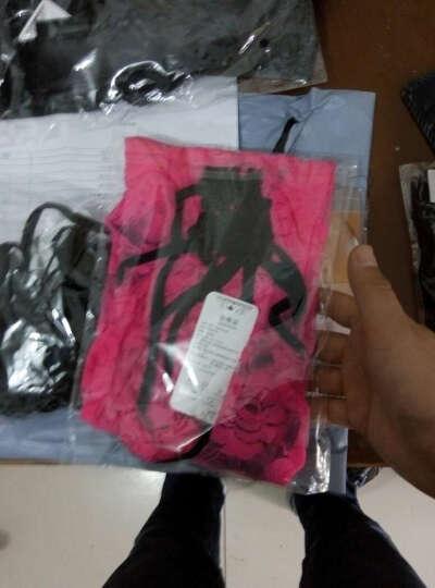嫩房 性感情趣内衣性感诱惑套装可配开档内裤丝袜 成人用品 透明蕾丝女式性感旗袍玫红色-22 晒单图