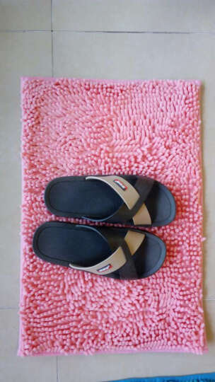 青苇 可水洗雪尼尔 地垫脚垫 高毛 心形50*60 粉色 晒单图