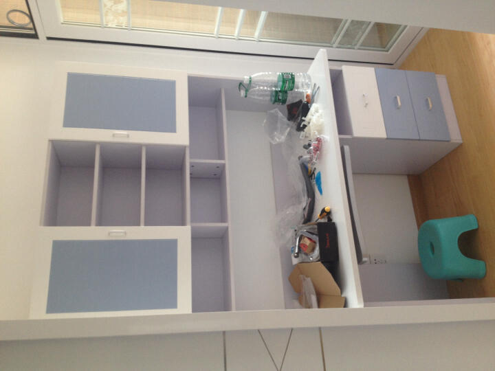 优漫佳 台式电脑桌 儿童书桌 电脑台书桌写字台 1M直角粉色(不含转椅) 晒单图