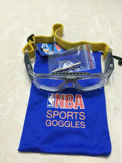 NBA篮球镜专业户外运动眼镜防爆防护眼镜男女足球护目镜护鼻防雾可配近视 901A03灰色前框 晒单图