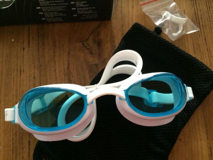 速比涛(Speedo)  泳镜 游泳眼镜 高清防雾防水游泳镜 男士女士 平光镀膜款 浅水蓝 晒单图