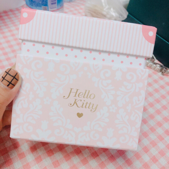 HELLO KITTY(凯蒂猫) 骨瓷马克杯带勺带盖 创意咖啡礼品牛奶杯陶瓷情侣水杯瓷杯 粉红色 301-400ML 晒单图
