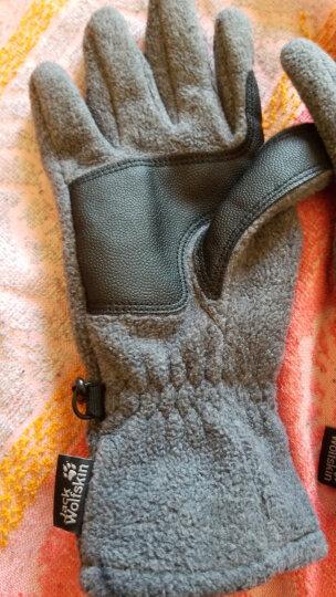 Jack Wolfskin狼爪抓绒手套男女同款户外手套滑雪手套保暖防风19615/1906121 19615-宝蓝色/1010 L 晒单图
