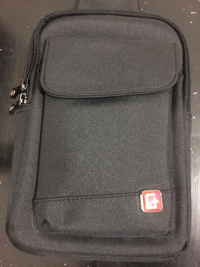 SWISSGEAR胸包 棉麻时尚单肩斜挎包 户外运动男 iPadmini包 SA-9859黑色 晒单图