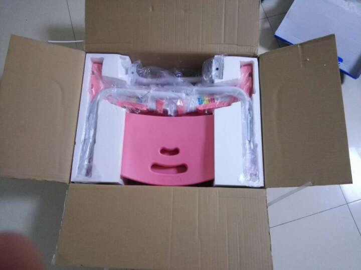 米哥 MG305大桌面课桌 可升降学生书桌 环保型 儿童学习桌椅套装 儿童书桌 课桌椅 MG305书桌MC001椅子 公主粉 双层书架 晒单图