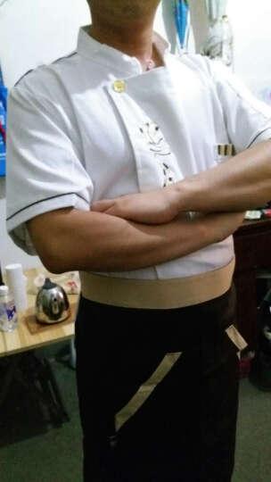 米偲赫尔 厨师服短袖酒店厨师工作服夏装西餐厅咖啡厅男女厨师半袖饭店厨衣配围裙 男女白色上衣+围裙 L 晒单图