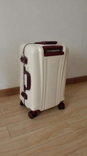 weekender纯色系列铝框拉杆箱时尚简约旅行箱TSA密码锁登机箱纯色行李箱 Avorio象牙奶白 20寸【登机箱】 晒单图
