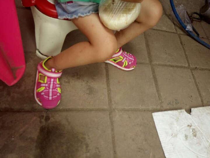 小猪快跑宝宝凉鞋女幼儿童鞋包头学步鞋软底男婴儿凉鞋机能鞋夏季 梅红 150码/内长约15.0cm 晒单图