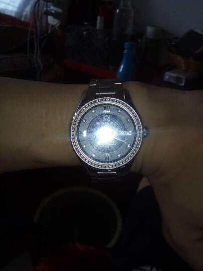 卡诗顿(KASHIDUN)水晶钻时尚潮流水钻时装表女表精钢夜光防水女士 YJ-005 晒单图