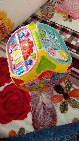 宝丽七面体游戏桌儿童玩具女孩男孩 婴儿玩具0-1岁手拍鼓拍拍鼓 益智玩具1-3岁智慧屋早教机 1406B黄色 晒单图