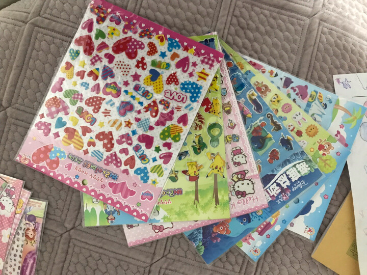 阳光男孩 儿童贴纸立体卡通贴纸PVC材质卡通动物人物粘贴画 1002海底世界 晒单图