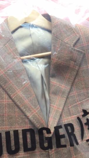 JUDGER庄吉 特价西装男 高含量羊毛西服 休闲男士单西服 便西外套 卡其格纹 180/50A 晒单图