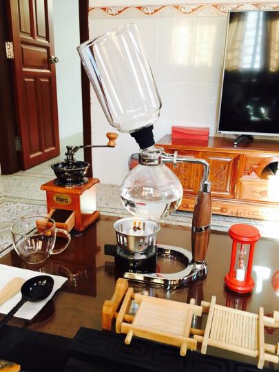 Hero 虹吸式咖啡壶 煮咖啡虹吸壶家用 胡桃木把手虹吸式咖啡机 3人份 晒单图