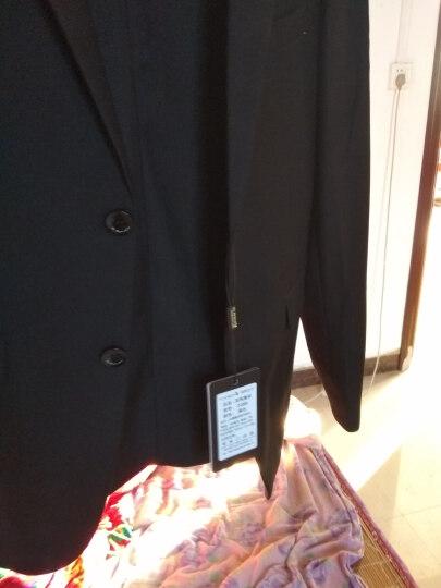 花花公子 商务男士西服套装男修身职业装正装上班工作西装结婚新郎礼服外套 黑色一粒扣2086 170 晒单图