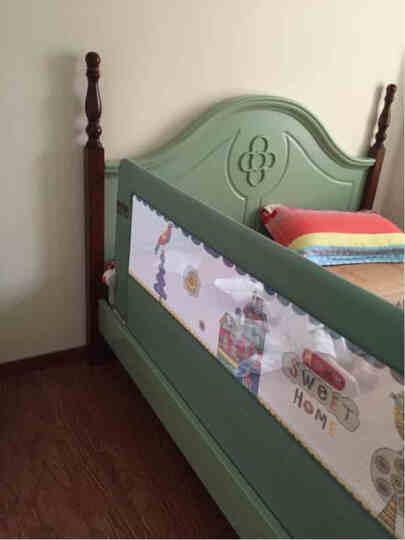 兔贝乐(rabbitbel) 婴儿童床围 欧式防摔床护栏1.8米床挡板防掉床宝宝通用护栏 卡其色钢琴熊 1米5 晒单图