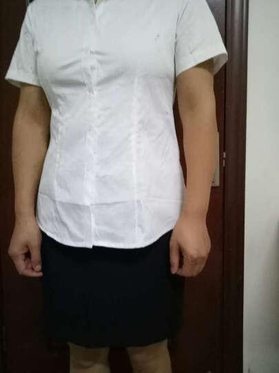 诺爱曼尼品牌女衬衫长袖大码2017春秋女装韩版新款纯棉衬衣职业装工作服修身工装寸衫5201 圆领-长袖-白色 XXL 晒单图
