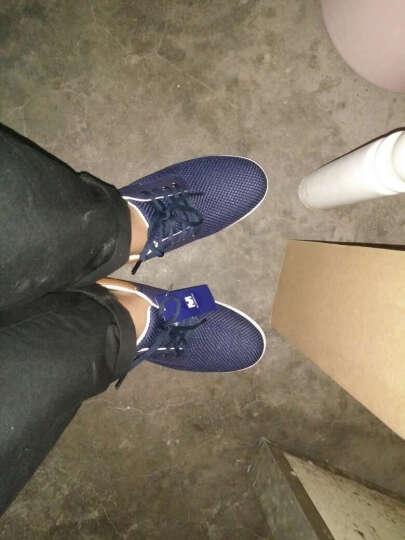 美特斯邦威装休闲鞋男男低帮网布拼接轻便板鞋202175 深蓝色 40 晒单图