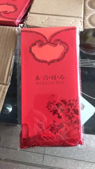 紫川之心 婚庆用品欧式婚礼请帖 中式结婚创意请柬2018 个性定制喜帖打印婚礼邀请函 中式红色 晒单图
