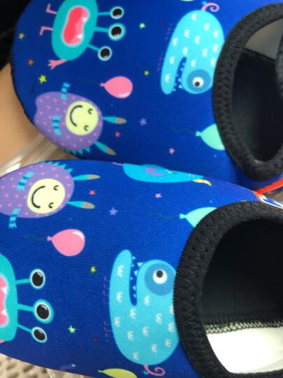 婴儿鞋春夏款薄款宝宝室内软底地板袜鞋幼儿园早教鞋儿童袜套泡泡鞋家居软地板鞋 浅蓝色兔 18(建议4.5-6岁) 晒单图