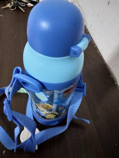 小黄人 儿童吸管杯夏季宝宝学饮水杯防摔防漏小孩学生水壶幼儿园喝水杯子 6616蓝色 晒单图