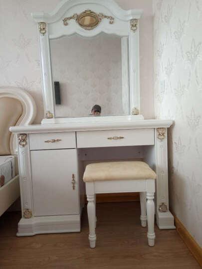 【3件8折】梦美斯宣家具 欧式梳妆台凳小户型卧室组合套装古典实木储物柜梳妆镜精湛雕花3068G 晒单图