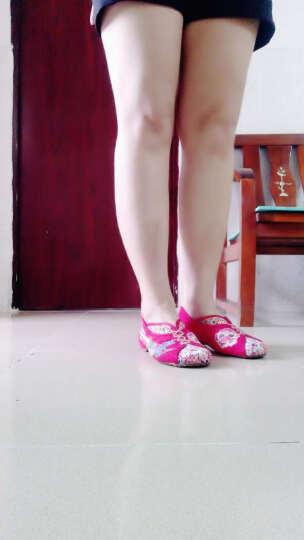 慕蓝枫绣花鞋布鞋女老北京布鞋民族风舒适低跟套脚休闲广场舞鞋 米色18-35 34 晒单图