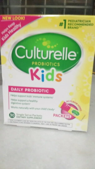 Culturelle 康萃乐美国原装进口宝宝婴儿幼儿童LGG益生菌粉冲剂 调理肠胃湿疹 水果味咀嚼片(30片X1盒) 晒单图