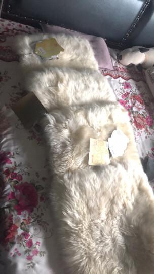 恒源祥 秋冬季澳洲羊毛通用汽车坐垫沙发长羊毛羊皮毛一体座垫汽车坐垫单片 白玉-奶油色 晒单图