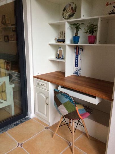 星典伊姆斯靠背塑料电脑洽谈餐椅子咖啡奶茶实木北欧简约会客吧椅办公会议椅 升级款橘红色 晒单图