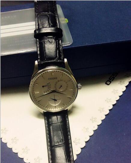 欧西尼 男士手表皮带腕表 石英手表男潮款休闲男表商务防水手表时尚男表 白盘 晒单图
