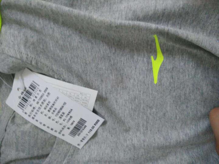 鸿星尔克erke男短袖T恤夏季新款纯色运动时尚圆领短袖T恤 正黑 2XL 晒单图