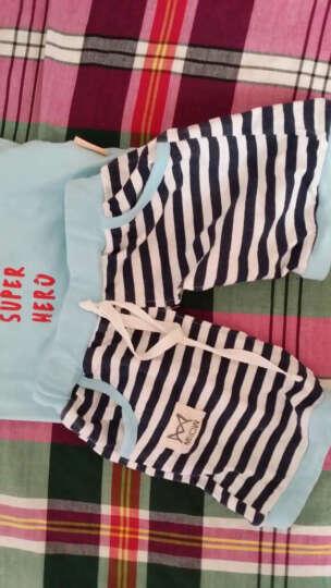 猫人儿童衣服宝宝夏装男女童套装儿童夏季短袖套装 小鸟-浅粉 110CM 晒单图
