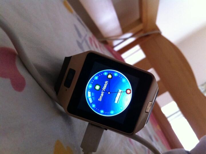 【赠送备用电池】半兽人 触屏智能手表手机蓝牙插卡电话手表 咖啡色+8G内存卡 晒单图