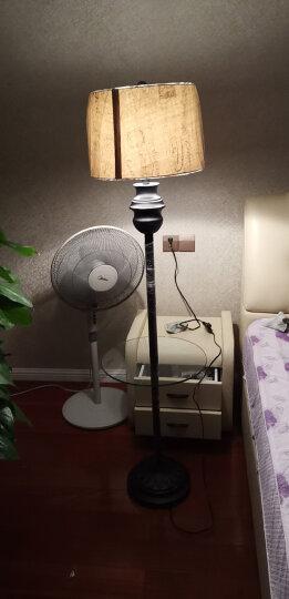 络曼(LUOMAN) 现代简约落地灯新中式欧式落地灯客厅卧室书房立式创意美式复古落地台灯 晒单图