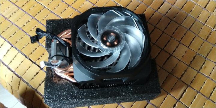 酷冷至尊(Cooler Master)T611P CPU风冷散热器(支持I9 2066、AM4/6热管直触/12CM蓝光双风扇/白光顶盖) 晒单图