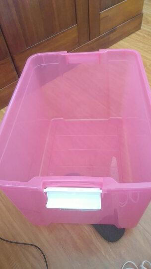 爱丽思IRIS 塑料收纳箱整理箱大号彩色透明衣物收纳箱环保储物箱 白/透明蓝 SSB-60 晒单图