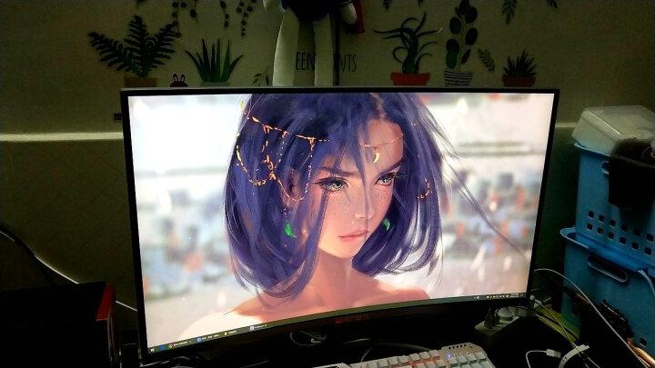 dostyle 京选DM320QC 32英寸2K分辨率1800R曲率高色域曲面显示器(原装三星曲面面板 爱眼不闪炫丽屏 HDMI/DVI/DP/耳机接口 三窄边框) 晒单图