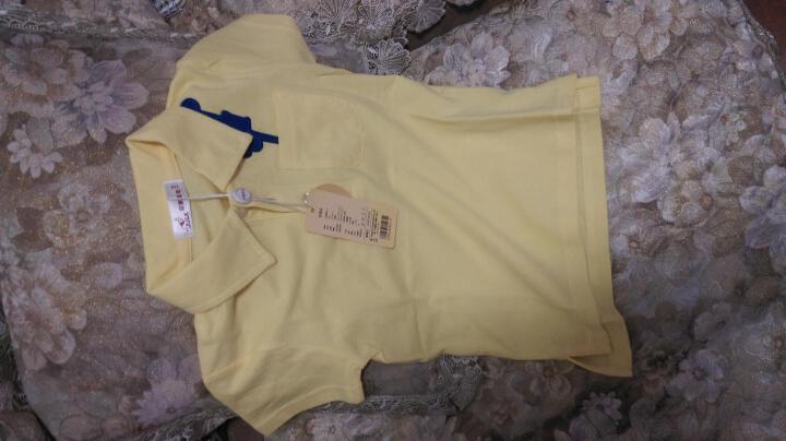 印象童年童装新款男童短袖上衣IK品牌儿童Polo衫宝宝休闲夏装 白色 90建议身高80cm-88cm左右 晒单图