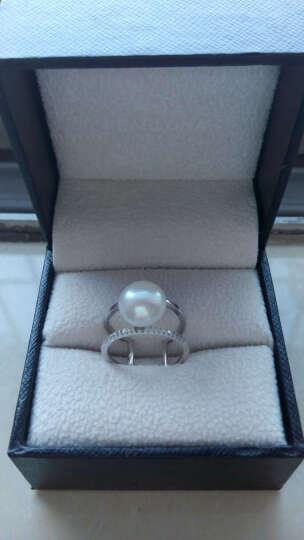 PEARLONA 卡贝尔 珍珠 淡水珍珠戒指 珍珠指环开口925银镂空戒指 10-11mm 粉色珍珠 晒单图