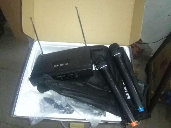 新科(Shinco)S3700 电脑麦克风话筒 无线麦克风功放音响麦克风KTV舞台话筒金属U段(黑色) 晒单图